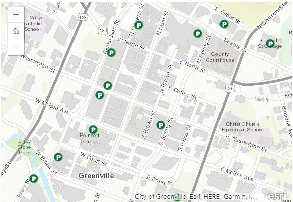 Greenville Parking Map