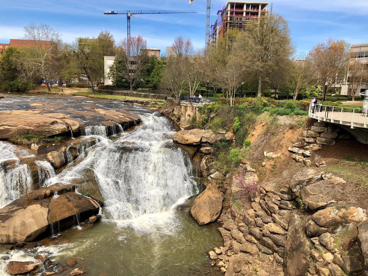 The Reedy River runs through downtown Greenville