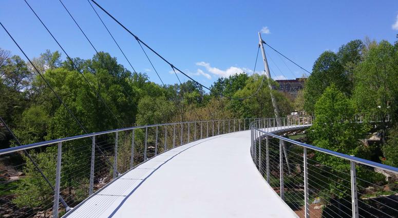 Liberty Bridge at Falls Park