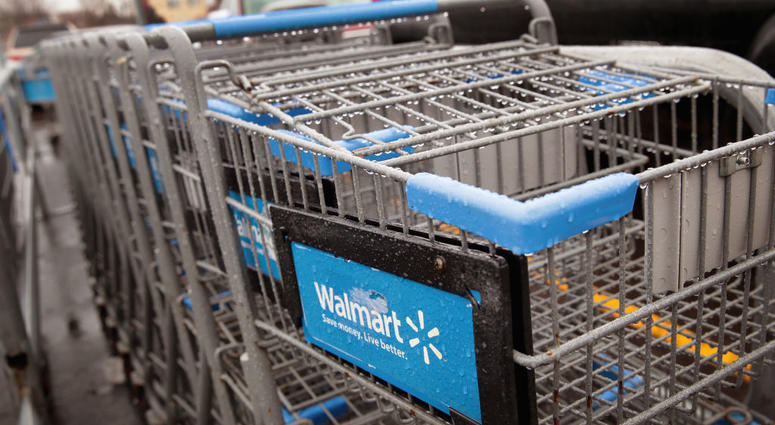 Walmart shopping carts