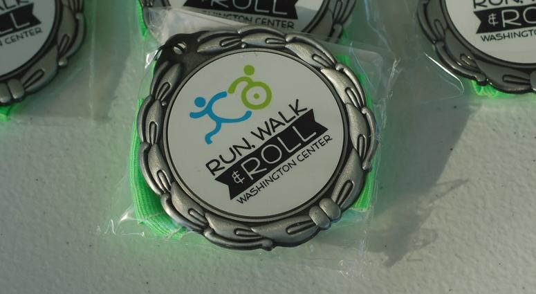 Washington Center Run Walk & Roll medals