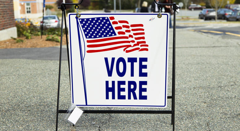 Polling place, vote here