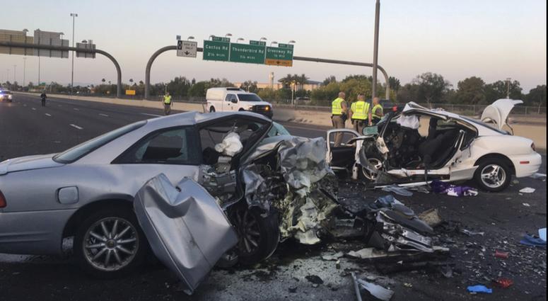 The Latest: 3 killed in wrong-way crash on Phoenix freeway