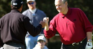 Talk show host Rush Limbaugh at golf tournament