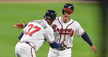 Atlanta Braves left fielder Preston Tucker