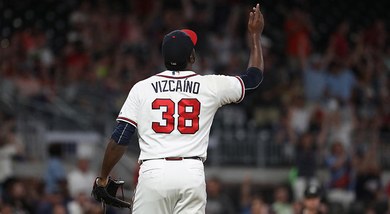 Atlanta Braves relief pitcher Arodys Vizcaino