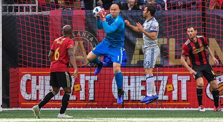 Atlanta United goalkeeper Brad Guzan