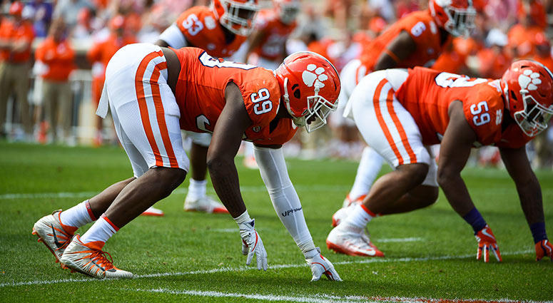 Clemson Tigers defensive end Clelin Ferrell