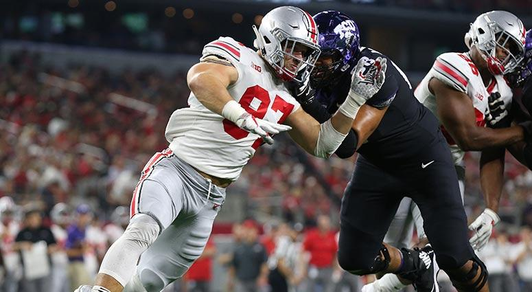 Ohio State Buckeyes defensive end Nick Bosa