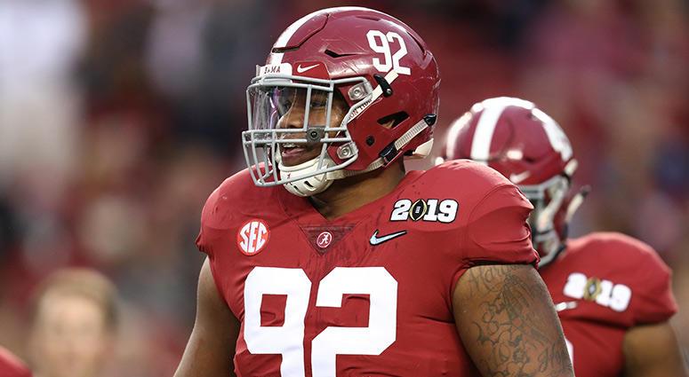 Alabama Crimson Tide defensive tackle Quinnen Williams