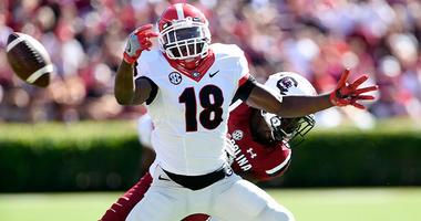 Defensive back Deandre Baker of the Georgia Bulldogs