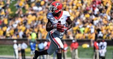 Wide receiver Mecole Hardman of the Georgia Bulldogs