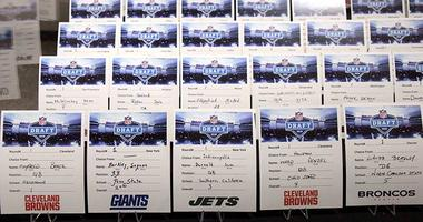 The selection cards for the 2018 NFL Draft