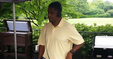 Former Atlanta Falcons running back Warrick Dunn