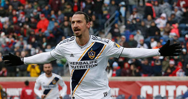 Los Angeles Galaxy forward Zlatan Ibrahimovic