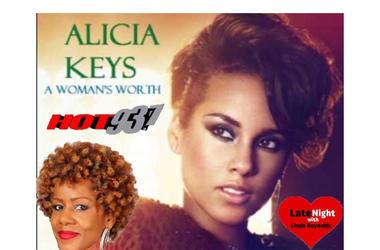 Alicia Keys A Woman's Worth 1st #LateNightLove