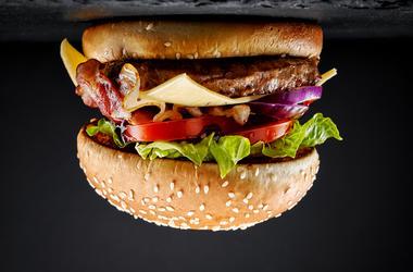 upside down hamburger