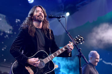 Dave Grohl of the Foo Fighters performs onstage