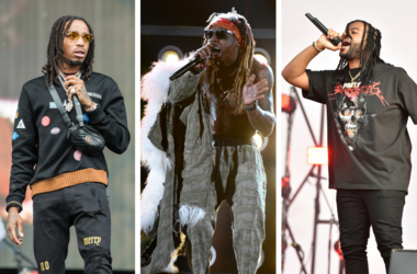 Quavo (Quavious Keyate Marshall) of Migos during the Budweiser Made In America Music Festival at Benjamin Franklin Parkway on September 2, 2017, in Philadelphia, Pennsylvania / Lil Wayne performs on the 2017 Billboard Music Awards at the T-Mobile Arena on