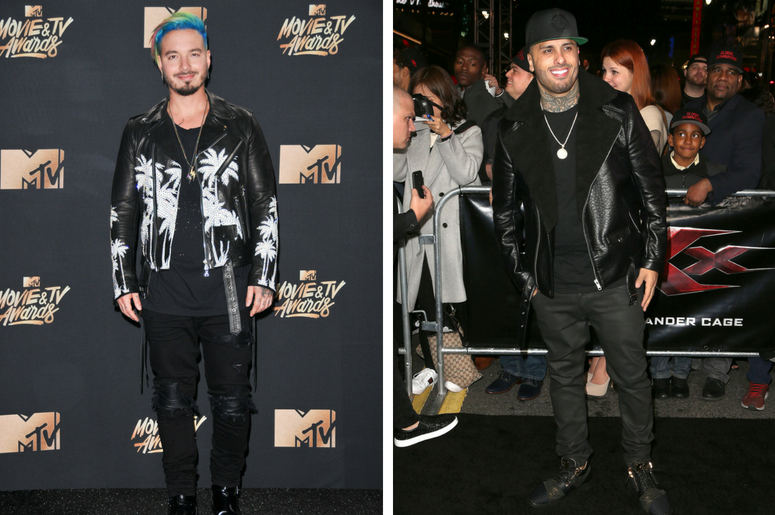 """J Balvin at the 2017 MTV Movie And TV Awards Press Room held at The Shrine Auditorium on May 7, 2017 in Los Angeles, California. / 19 January 2017 - Hollywood, California - Nicky Jam. """"xXx: Return Of Xander Cage"""" Los Angeles Premiere held at the TCL Chine"""